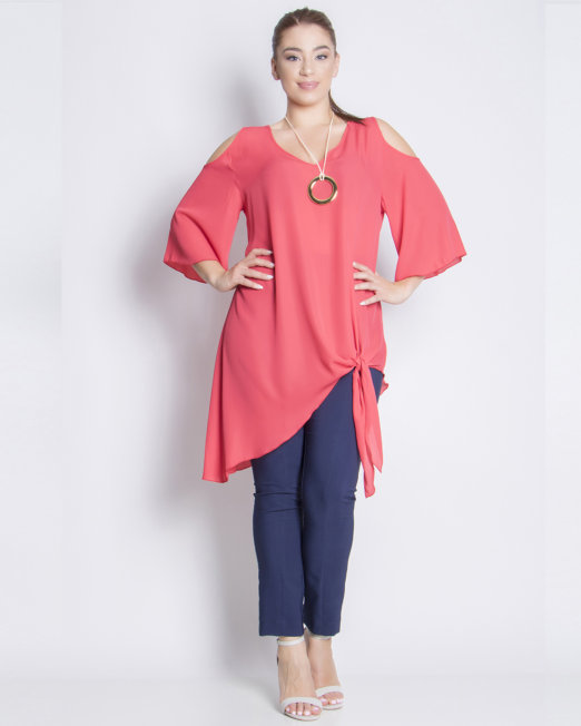 Cold-shoulders Asymmetric Blouses all
