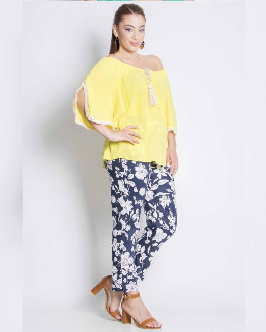 Top open neck yellow