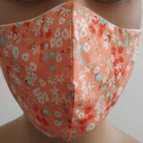 Μάσκες υφασμάτινες εμπριμέ λουλουδάκια